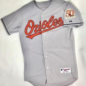 Baltamore Orioles Majestic 50th Anniversary Jersey